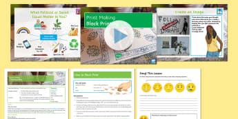 Print Making: Block Printing Lesson Pack  - Secondary, Art, Print Making, block printing, banksy, activism, KS3, Year 9, introduction