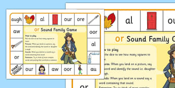 OR Sound Family Game - or, sound family, or sound, sound, game, activity