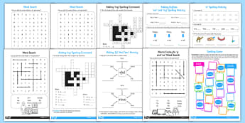 Year 2 Spelling Lists and Resources Pack - spelling, lists, pack