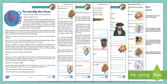 KS2 A Pirate's Life For Me: Focused Reading Skills Comprehension Pack - Year 3, Year 4, Year 5, Year 6, reading comprehension, inference, understanding, reading dogs, SATs