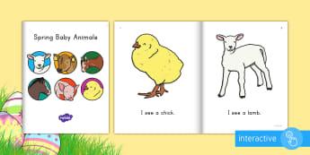 Spring Baby Animals Emergent Reader eBook - emergent reader, emergent readers, emergent reading books, emergent reading texts, sight word reader