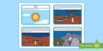 Gnowee The Sun Woman Story Cards - aboriginal, dreamtime, indigenous, Wotjobaluk Tribe, ACSSU004, sunset, sunrise,Australia