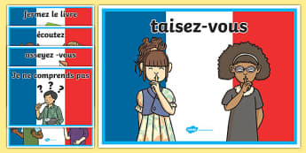 French Classroom Commands Posters - france, languages, EAL