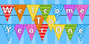 Welcome to Year One Bunting Multicoloured - year one, welcome to year one, bunting, themed bunting, display bunting, bunting flags, flag bunting, cut outs