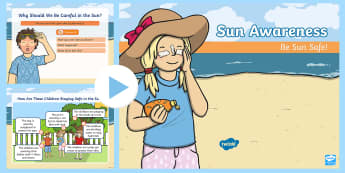 EYFS All About Sun Awareness PowerPoint - EYFS, early years foundation stage, sun safety, sun awareness, summer, sun, sunshine, sunny, warm, h