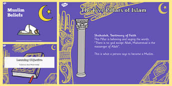 Muslim Beliefs Teaching and Task Setter PowerPoint - Muslims