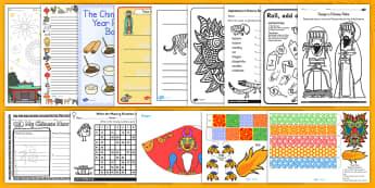 Home Educator Chinese New Year Resource Pack - chinese, new year