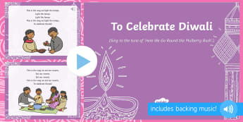 To Celebrate Diwali Song PowerPoint