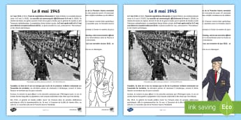 Fiche documentaire : Le 8 mai 1945 - Le 8 mai 1945, KS2, cycle 3, cycle 2, 8th May 1945, history, histoire, victoire, victory, capitulati