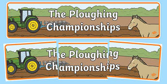 National Ploughing Championships Display Banner-Irish