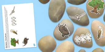Story Stone Image Cut Outs to Support Teaching on Owlets - Story stones, stone art, painted rocks,  storytelling, L, Literacy, Owl Babies, Owl, Martin Waddell