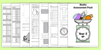 Year 5 Maths Assessment Pack Term 1 - assessment, pack, year 5, maths, numbers