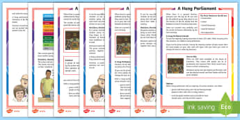 KS2 A Hung Parliament Differentiated Fact File - KS2 General Election, Prime Minister, non fiction, citizenship, global issues