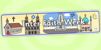Inter Faith Week Display Banner - inter faith week, display banner, banner,  banner for display, display header, header for display, header, display images