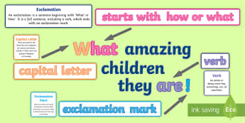 Types of Sentences Display Pack - KS1, year 1, year 2, sentences, features of sentences, adjectives, adverbs, verbs, nouns, full stops