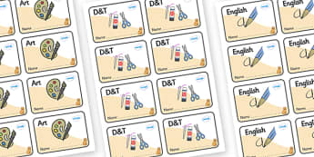 Cat Themed Editable Book Labels - Themed Book label, label, subject labels, exercise book, workbook labels, textbook labels