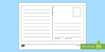 Ferienpostkarte Anleitung für Lehrkräfte - Sommer, Jahreszeiten, Deutsch, Schreiben, Malen, Kl.1/2, Ferien, summer, seasons, German, writing, d