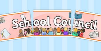 School Council Display Banner - school council, display banner, display