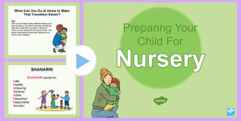 Preparing Your Child for Nursery PowerPoint - transition, home to nursery, starting nursery, starting school, Back to school, ,Scottish