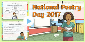 LKS2 National Poetry Day 2017 PowerPoint - poems, free verse, poetry techniques, writing a poem, y3, y4, creativity, freedom