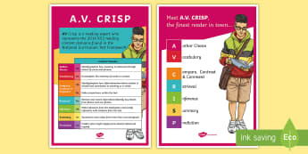 KS2 AV Crisp Reading Content Domains Display Posters - VIPERS, reading assessment, reading dogs, 2016 national curriculum,