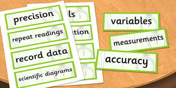 UKS2 Working Scientifically Scientific Vocabulary Cards - science