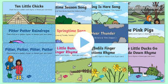 Bumper Spring Songs and Rhymes PowerPoints Pack - spring, Spring, seasons, spring UK, Spring United Kingdom, Spring UK, spring United Kingdom, seasona