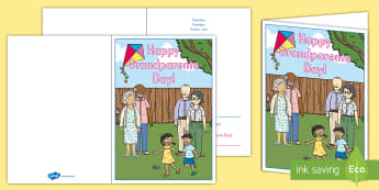 Grandparents Day Poem Personalized Card - Grandparents Day, Grandparents Day Card, Grandparents Day Greetings Card, Grandma And Grandpa, All A