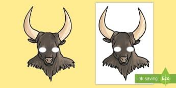 Minotaur Role Play Masks - Theseus and the Minotaur Story Mask - story, cut out, books, greek myth, odysseus, minotour