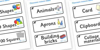 Raven Themed Editable Classroom Resource Labels - Themed Label template, Resource Label, Name Labels, Editable Labels, Drawer Labels, KS1 Labels, Foundation Labels, Foundation Stage Labels, Teaching Labels, Resource Labels, Tray Labels, Printable lab