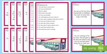 Getting the Bus – Scenarios and Social Scripts