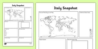 Italy Snapshot - CfE, second level, fact file, people and place, Scotland, Italy, comparison