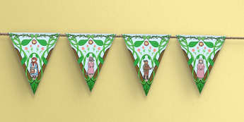 Little Red Riding Hood Bunting - display, displays, traditional