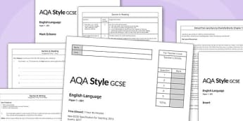 GCSE English Language Exam Paper 1 AQA - gcse, english, language, exam, paper, aqa