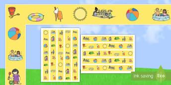 Summer Display Borders - NI, Summer, border, display, sunshine, sun, sunny, holiday, ice cream, seasons, weather