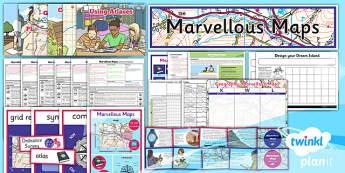 PlanIt - Geography Year 5 - Marvellous Maps Unit Pack - planit, unit, pack