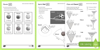 Shape at Home: Spheres, Cones and Sectors GCSE Grades 5 and Up Activity Sheet - shape at home, spheres, cones, sectors, gcse, grade, 5, up, activity, worksheet