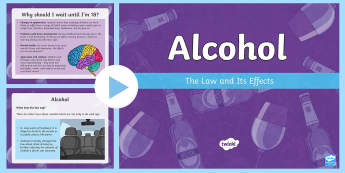 Alcohol PowerPoint - CfE Health and Wellbeing Resources, alcohol, substance misuse, media, 2nd level, risks, peer pressur