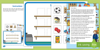 Toy Shop Positions Problem Resource Pack - EYFS, Early Years, Children Use Everyday Language to Talk About Position and to Solve Problems, ELG,