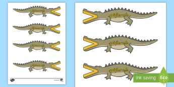 Kleiner und Größer als Krokodile - rechnen, Mathematik, Mathe, größer als, kleiner als, gleich als,German