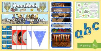 Hanukkah Display Pack - Hanukkah, Jew, Judaism, celebration, light, festival,Australia