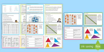 UKS2 Maths Hint Revision Cards - SATs, practice, practise, help, number, Reasoning, calculations