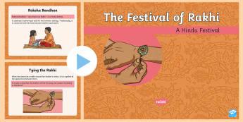 KS2 Rakhi Information PowerPoint - hindu, festival, celebration, love, brother and sister