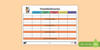 Daily Foundation Phase Timetable - Welsh, Back to school resources, Timetable