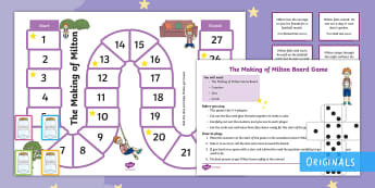 The Making of Milton Board Game - twinkl fiction, compliment, bravery, courage, character, Team work