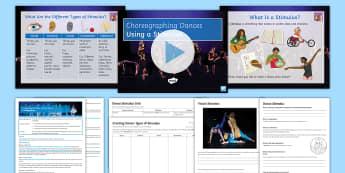 Introduction to Choreography: Using Stimulus Lesson Pack 1 - dance, GCSE Dance, choreography, stimulus, improvisation, KS3 Dance, KS4 Dance, creating dance, danc