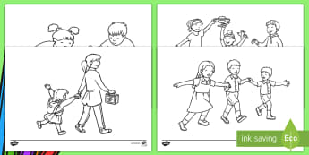 School-Themed Colouring Pages  - EYFS, Early Years, KS1, Key Stage 1, Back To School, Transition, New School Year, First Week Back At