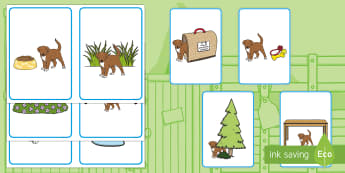 Where Is the Puppy? Positional Language Picture Cards - EYFS, Early Years, Dear Zoo, Rod Campbell, animals, letter to the zoo, pets, dog, puppy, positional