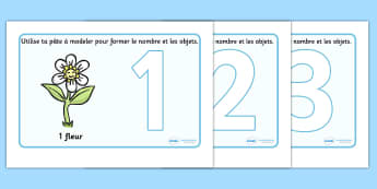 French Number Playdough Mats (1-10) - Playdough mat, francais, playdough resources, numeracy, numbers, playdough