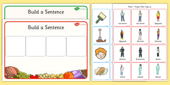 Showing Membership and Building Sentences Activity Pack - oral, oral language, oracy, question, word, activity, pack, categorization, category, describing
